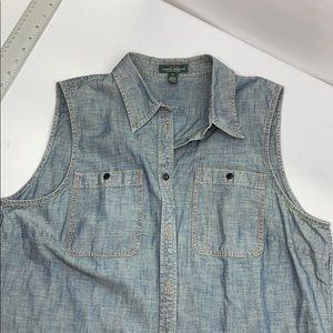 RL Sleeveless Jean Shirt, XL.       B9